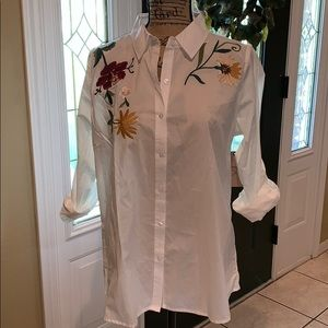NWT Embroidered Blouse